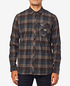 Fox Men's Rowan Plaid Brushed Stretch Flannel Shirt