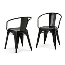Set of 2 Larkin Dining Chair, Quick Ship