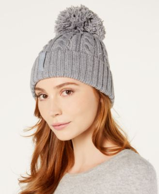 0738a6a6d02 Calvin Klein Solid Cable-Knit Beanie   Reviews - Handbags   Accessories -  Macy s