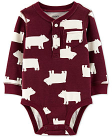 Carter's Baby Boys Polar Bear-Print Cotton Henley Bodysuit