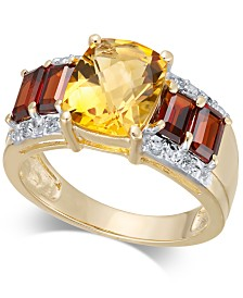 Multi-Gemstone (4-3/8 ct. t.w.) & Diamond Accent Ring in 14k Gold