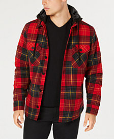 American Rag Men's Plaid Hooded Shirt Jacket, Created for Macy's