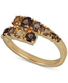 Quartz Bypass Ring (1-1/3 ct. t.w.) in 14k Gold-Plated Sterling Silver