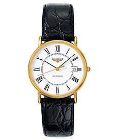 Men's Swiss Automatic La Grande Classique Presence Black Strap Watch L48212112