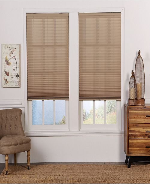 The Cordless Collection Cordless Light Filtering Pleated Shade, 32.5x64