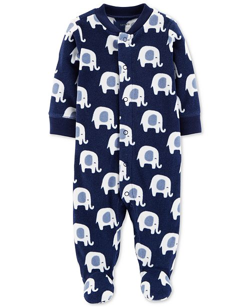 75e7d2e654e6 Carter s Baby Boys Elephant-Print Footed Coverall - All Baby - Kids ...