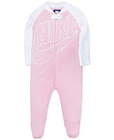 Nike Baby Girls Futura Footed Cotton Coverall