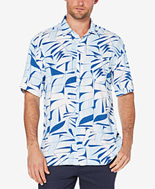 Cubavera Men's Big & Tall Leaf Print Shirt