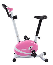 Sunny Health & Fitness Pink Magnetic Upright Bike