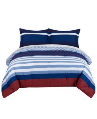 Nautical Stripe Twin Comforter Set