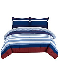 Nautical Stripe Twin Comforter Set