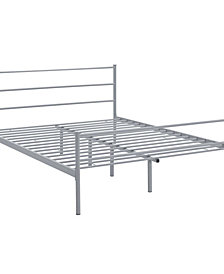 Alina Queen Platform Bed Frame in White
