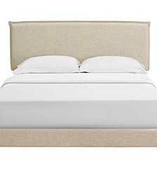 Amaris Full Fabric Platform Bed with Round Splayed Legs