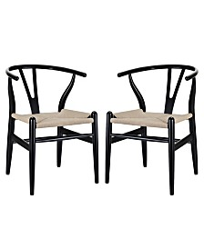 Modway Amish Dining Armchair Set of 2
