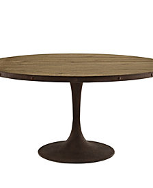 Drive 60 Inch Round Wood Top Dining Table