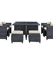 Summon 9 Piece Outdoor Patio Sunbrella® Dining Set