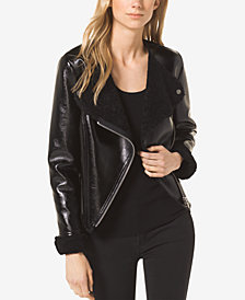 MICHAEL Michael Kors Faux-Shearling Jacket, Regular & Petite