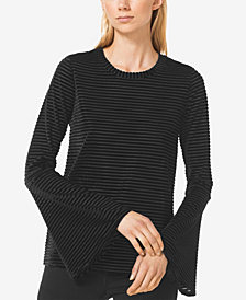 MICHAEL Michael Kors Velvet-Stripe Top