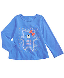 First Impressions Baby Girls Sparkle-Print Cotton T-Shirt, Created for Macy's