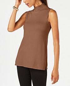 Sleeveless Mock-Turtleneck Sweater, Created for Macy's