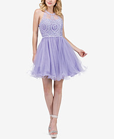 Dancing Queen Juniors'  Embellished Fit & Flare Dress