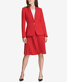 Calvin Klein Blazer & Pleated Skirt
