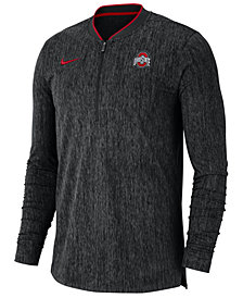 Nike Men's Ohio State Buckeyes Coaches Quarter-Zip Pullover 2018