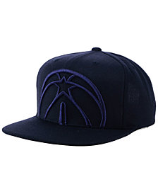 Mitchell & Ness Washington Wizards Metallic Cropped Snapback Cap