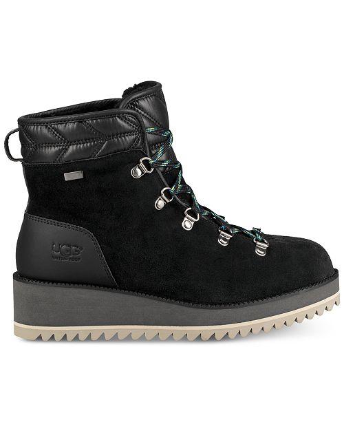 UGG® Women s Birch Lace-Up Boots   Reviews - Boots - Shoes - Macy s e6ba57e8e
