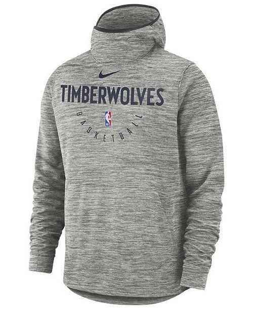Nike Men S Minnesota Timberwolves Spotlight Pullover Hoodie