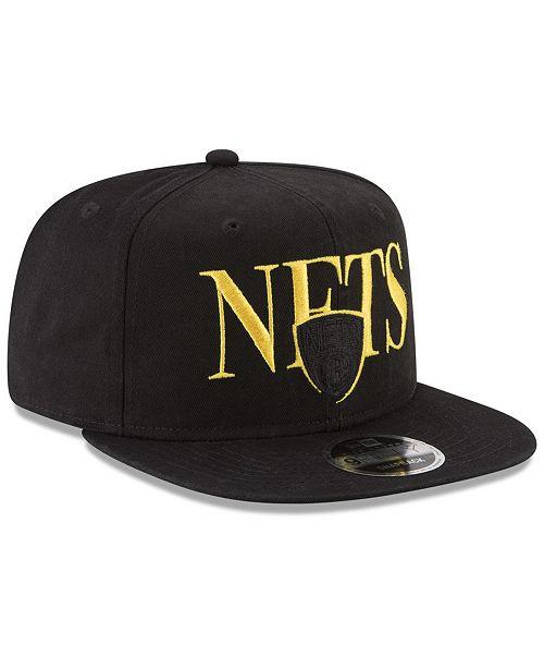 best sneakers 386a7 33248 ... New Era Brooklyn Nets 90s Throwback Roadie 9FIFTY Snapback Cap ...