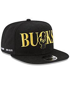 New Era Milwaukee Bucks 90s Throwback Roadie 9FIFTY Snapback Cap