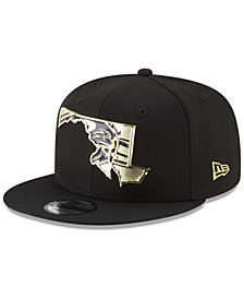 New Era Baltimore Ravens Gold Stated 9FIFTY Snapback Cap
