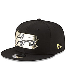 New Era Philadelphia Eagles Gold Stated 9FIFTY Snapback Cap