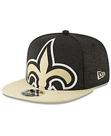 New Era New Orleans Saints Oversized Laser Cut 9FIFTY Snapback Cap