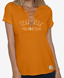 Retro Brand Women's Tennessee Volunteers Lace Up V-Neck T-Shirt