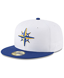 New Era Seattle Mariners Batting Practice Wool Flip 59FIFTY FITTED Cap