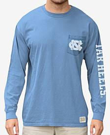 Men's North Carolina Tar Heels Heavy Weight Long Sleeve Pocket T-Shirt