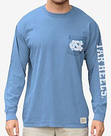 Retro Brand Men's North Carolina Tar Heels Heavy Weight Long Sleeve Pocket T-Shirt