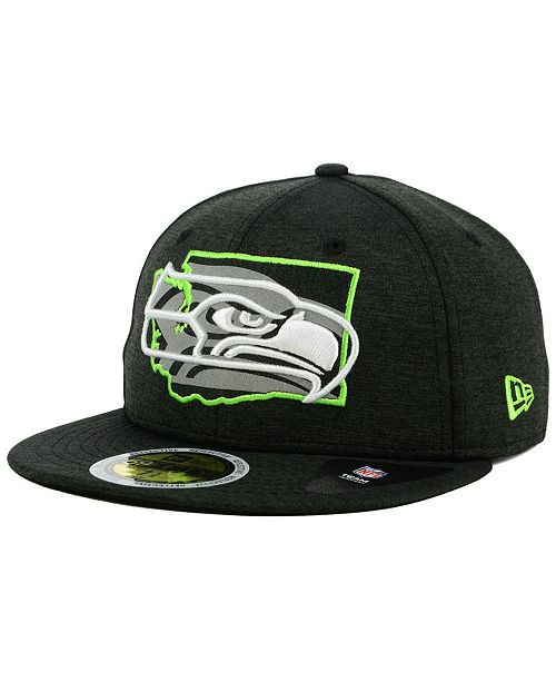 344b6e5e6a6d4 New Era Seattle Seahawks State Flag Reflective 59FIFTY FITTED Cap ...