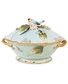 Fitz and Floyd Dinnerware, Toulouse Tureen with Ladle