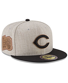 New Era Cincinnati Reds Leather Ultimate Patch Collection 59FIFTY FITTED Cap