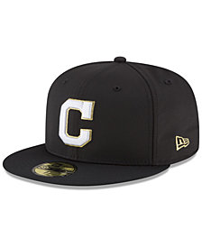 New Era Cleveland Indians Prolite Gold Out 59FIFTY FITTED Cap