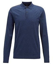 BOSS Men's Slim-Fit Long-Sleeve Cotton Polo