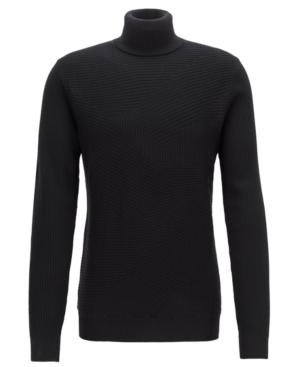 Boss Men's Virgin Wool Turtleneck Sweater