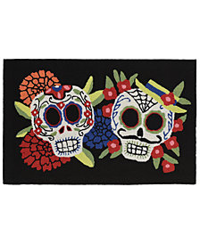 Liora Manne Front Porch Indoor/Outdoor Mr. and Mrs. Muerto Black 2' x 3' Area Rug