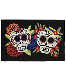 "Liora Manne Front Porch Indoor/Outdoor Mr. and Mrs. Muerto Black 2'6"" x 4' Area Rug"