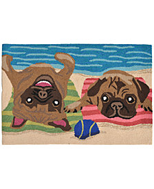 Liora Manne Front Porch Indoor/Outdoor Pug Life Multi 2' x 3' Area Rug