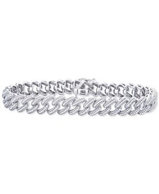Diamond Link Bracelet (1 ct. t.w.) in Sterling Silver