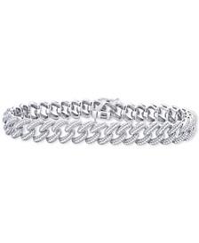 Diamond Link Bracelet (1 ct. t.w.) in Sterling Silver